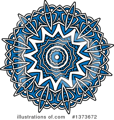 Kaleidoscope Flower Clipart #1373672 by Vector Tradition SM
