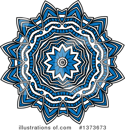 Kaleidoscope Flower Clipart #1373673 by Vector Tradition SM