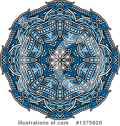 Kaleidoscope Flower Clipart #1375620 by Vector Tradition SM