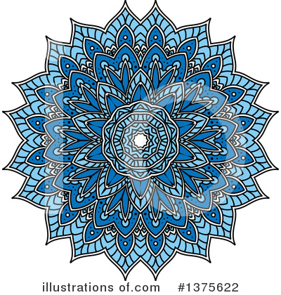 Kaleidoscope Flower Clipart #1375622 by Vector Tradition SM