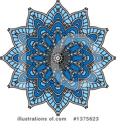 Kaleidoscope Flower Clipart #1375623 by Vector Tradition SM