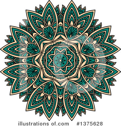 Kaleidoscope Flower Clipart #1375628 by Vector Tradition SM