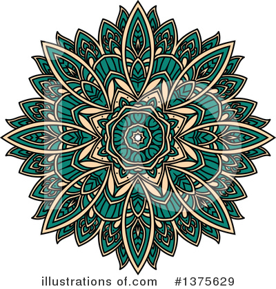 Kaleidoscope Flower Clipart #1375629 by Vector Tradition SM