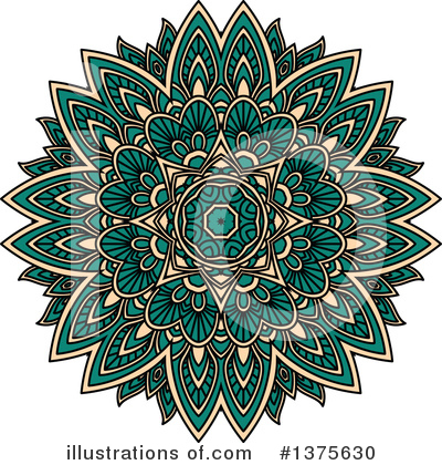 Kaleidoscope Flower Clipart #1375630 by Vector Tradition SM