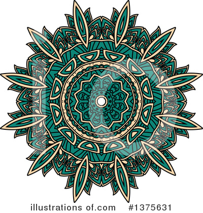 Kaleidoscope Flower Clipart #1375631 by Vector Tradition SM