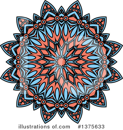 Kaleidoscope Flower Clipart #1375633 by Vector Tradition SM