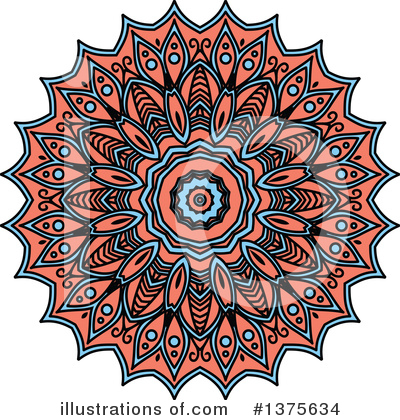 Kaleidoscope Flower Clipart #1375634 by Vector Tradition SM