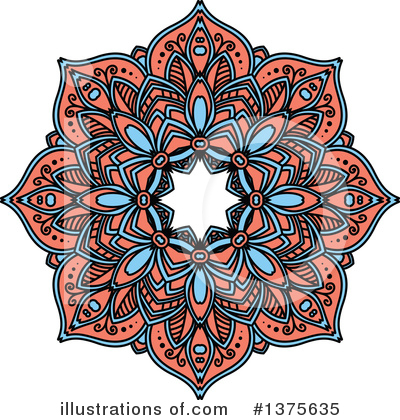 Kaleidoscope Flower Clipart #1375635 by Vector Tradition SM