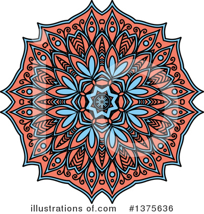 Kaleidoscope Flower Clipart #1375636 by Vector Tradition SM
