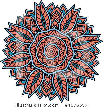 Kaleidoscope Flower Clipart #1375637 by Vector Tradition SM