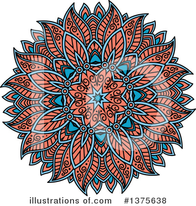Kaleidoscope Flower Clipart #1375638 by Vector Tradition SM