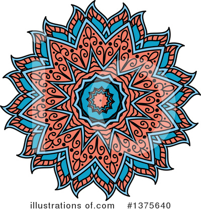 Kaleidoscope Flower Clipart #1375640 by Vector Tradition SM