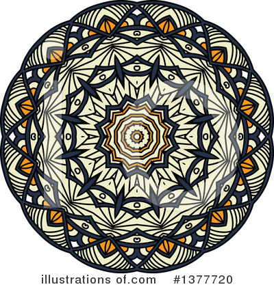 Kaleidoscope Flower Clipart #1377720 by Vector Tradition SM