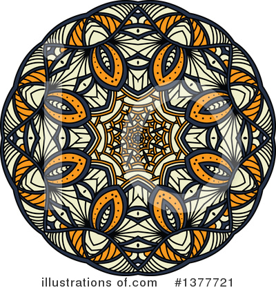 Kaleidoscope Flower Clipart #1377721 by Vector Tradition SM