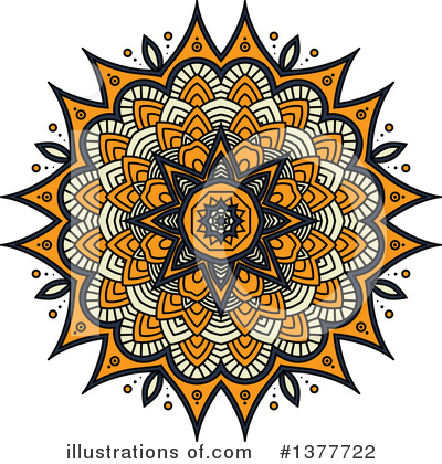 Kaleidoscope Flower Clipart #1377722 by Vector Tradition SM