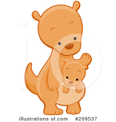 Royalty-Free (RF) Kangaroo Clipart Illustration by BNP Design Studio - Stock Sample #209537