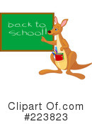 Royalty-Free (RF) Kangaroo Clipart Illustration #223823