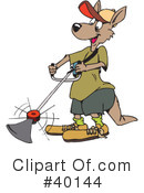 Kangaroo Clipart #40144 by Dennis Holmes Designs