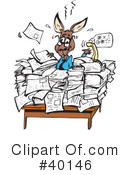 Kangaroo Clipart #40146 by Dennis Holmes Designs