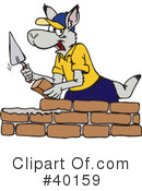 Royalty-Free (RF) kangaroo Clipart Illustration #40159