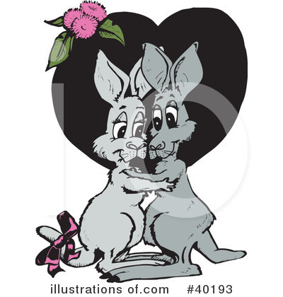 Kangaroo Clipart #40193 by Dennis Holmes Designs