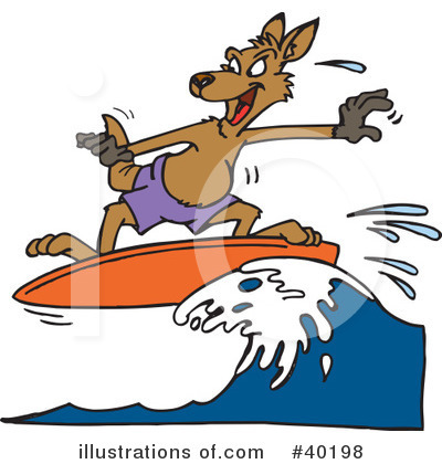 Kangaroo Clipart #40198 by Dennis Holmes Designs