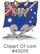 Kangaroo Clipart #40200 by Dennis Holmes Designs