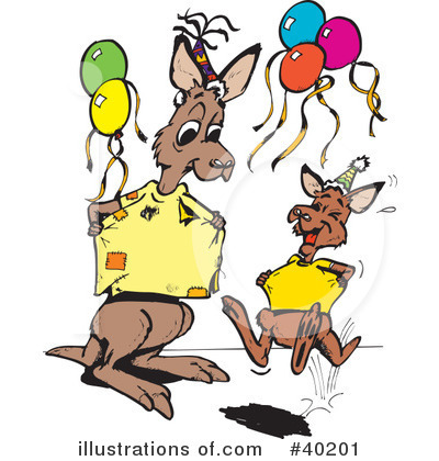 Kangaroo Clipart #40201 by Dennis Holmes Designs
