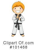 Royalty-Free (RF) Karate Clipart Illustration #101468