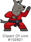 Royalty-Free (RF) Karate Clipart Illustration #102821