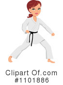 Royalty-Free (RF) Karate Clipart Illustration #1101886