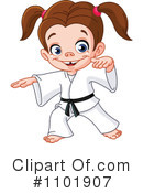 Royalty-Free (RF) Karate Clipart Illustration #1101907