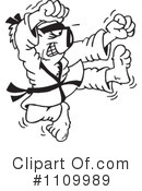 Royalty-Free (RF) Karate Clipart Illustration #1109989