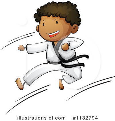 Karate Clipart #1132794 by Graphics RF