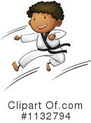 Royalty-Free (RF) Karate Clipart Illustration #1132794