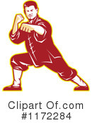 Royalty-Free (RF) Karate Clipart Illustration #1172284