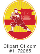 Royalty-Free (RF) Karate Clipart Illustration #1172285
