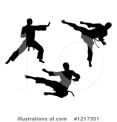 Karate Clipart #1217351 by AtStockIllustration