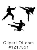 Royalty-Free (RF) Karate Clipart Illustration #1217351