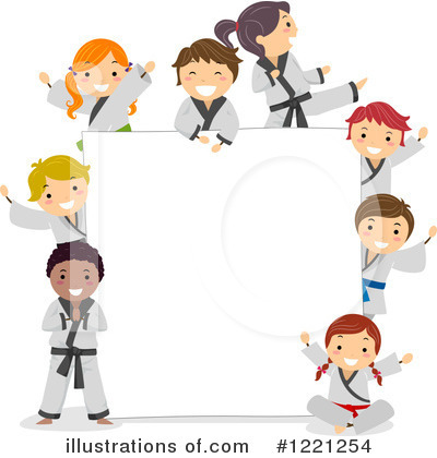 Karate Clipart #1221254 by BNP Design Studio