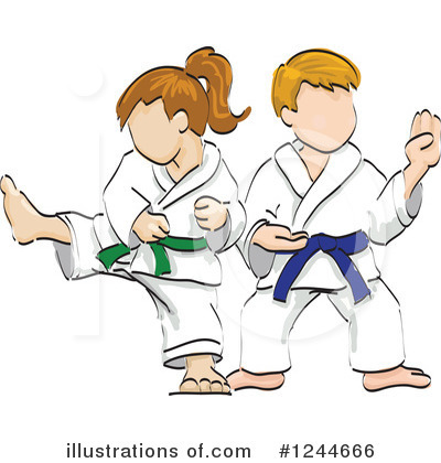 Karate Clipart #1244666 by David Rey