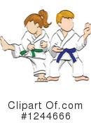 Royalty-Free (RF) Karate Clipart Illustration #1244666