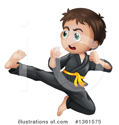 Royalty-Free (RF) Karate Clipart Illustration by Graphics RF - Stock Sample #1361575