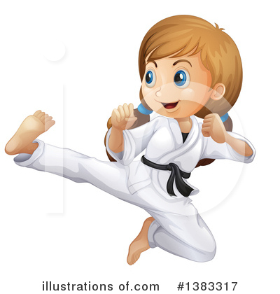 Karate Clipart #1383317 by Graphics RF