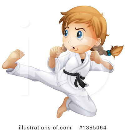 Karate Clipart #1385064 by Graphics RF