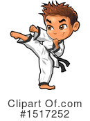 Karate Clipart #1517252 by Clip Art Mascots