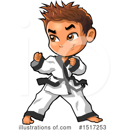 Karate Clipart #1517253 by Clip Art Mascots