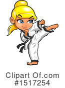 Karate Clipart #1517254 by Clip Art Mascots