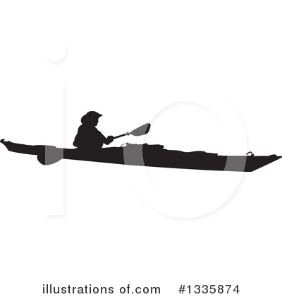 Kayaker Clipart #1335874 by Maria Bell