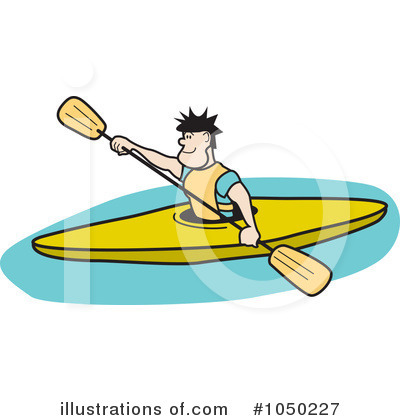 Kayaker Clipart #1050227 by Andy Nortnik